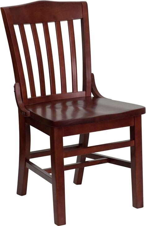 Flash Furniture HERCULES Series Mahogany Finished School House Back Wooden Restaurant Chair [XU-DG-W0006-MAH-GG]